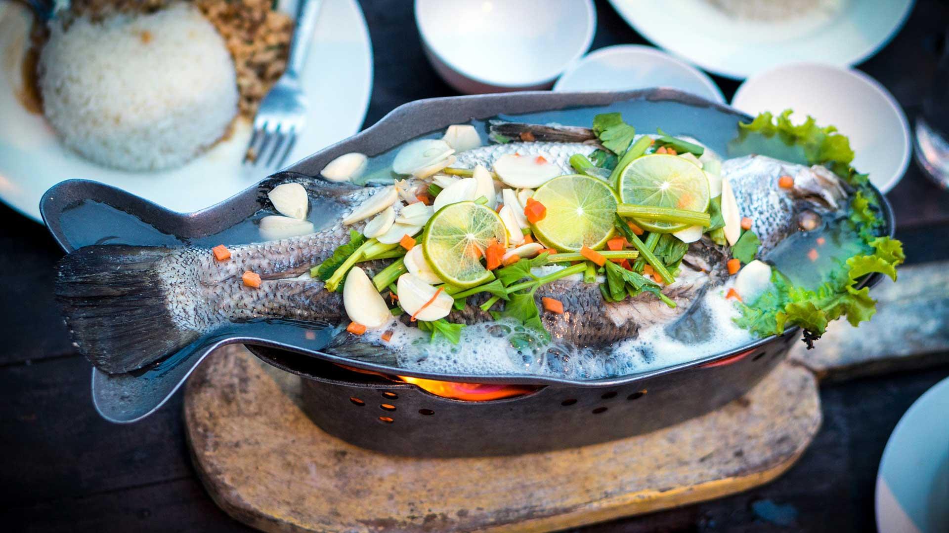 Fischerhütte - Gericht Fisch