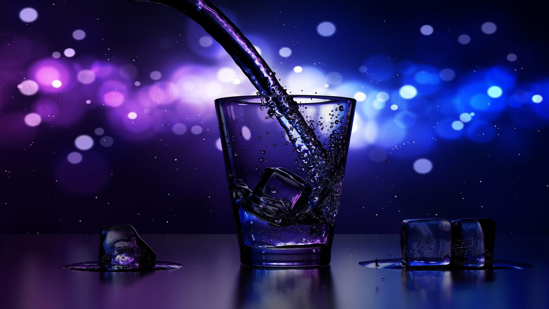Icebar Lambsheim - Glas mit Eiswürfel